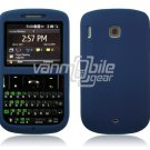 Soft Rubber Silicone Skin Cover Case for HTC Ozone XV6175 - Blue