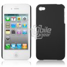 BLACK SOLID 1-PC HARD CASING HOUSING for IPHONE 4 APPLE