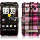 PINK PL DESIGN HARD 2-PC CASE COVER for HTC EVO 4G SKIN