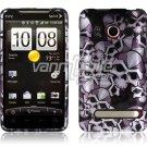 SKULLS DESIGN HARD 2-PC CASE COVER for HTC EVO 4G SKIN