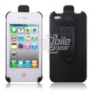 BLACK HOLSTER CASE COVER for APPLE IPHONE 4 4TH GEN 4OS