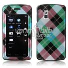 TURQUOISE BLUE ARGYLE ACCESSORY CASE for LG VU PHONE NR