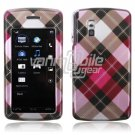 BROWN PINK ARGYLE ACCESSORY CASE for LG VU PHONE NR