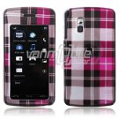 BROWN PINK PLAID ACCESSORY CASE for LG VU PHONE NR