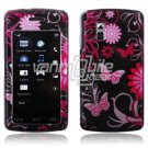 PINK BLACK BFLY DESIGN ACCESSORY CASE for LG VU PHONE