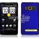 DARK BLUE HARD 1-PC ACCESSORY CASE for HTC EVO 4G PHONE