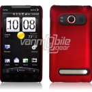 RED HARD 1-PC ACCESSORY CASE for HTC EVO 4G PHONE