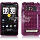 PINK ARGYLE DESIGN 1-PC CASE for HTC EVO 4G PHONE