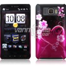 BLACK/PINK HEART 1-PC CASE COVER for TMOBILE HTC HD2 NR