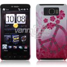 PINK PEACE 1-PC CASE COVER for TMOBILE HTC HD2 NR