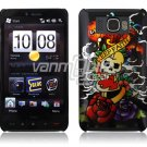 KF HARDY DESIGN SKULL 1-PC CASE COVER for TMOBILE HTC HD2 NR