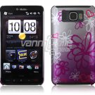 SQUIGGLY FLOWER DESIGN 1-PC CASE COVER for TMOBILE HTC HD2 NR