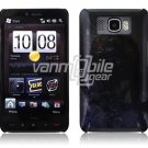 BLACK/BLUE DESIGN 1-PC CASE COVER for TMOBILE HTC HD2 NR