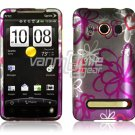 SQUIGGLY FLOWER FACE PLATE CASE for SPRINT HTC EVO 4G