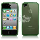 GREEN SEE THRU RUBBER SKIN CASE for IPHONE 4 4TH GEN 4OS