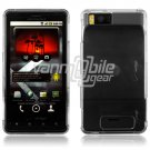 CLEAR HARD 2-PC CASING HOUSING for MOTOROLA DROID X NEW
