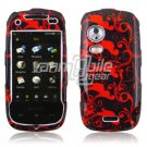 RED BLACK HARD FACE PLATE for SAMSUNG INSTINCT HD PHONE