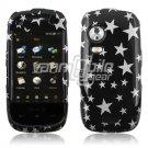BLACK SILVER STARS HARD FACE PLATE for SAMSUNG INSTINCT HD PHONE