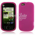 PINK SOFT SILICONE SKIN CASE for MOTOROLA CLIQ XT PHONE