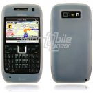 CLEAR/WHITE GRIP SOFT SILICONE RUBBER GEL SKIN 4 NOKIA E71 71X