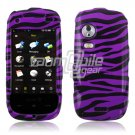 PURPLE/BLACK ZEBRA DESIGN CASE COVER 4 SAMSUNG INSTINCT HD S50