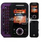 BLACK HARD SKIN CASE COVER 4 MOTOROLA RIVAL PHONE A455