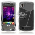 CLEAR HARD 2-PC CASE COVER for LG CHOCOLATE TOUCH