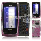 SQUIGGLY FLOWER DESIGN CASE COVER for LG RUMOR TOUCH NR