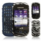 SILVER BLACK ZEBRA CASE COVER for SAMSUNG SEEK PHONE NR