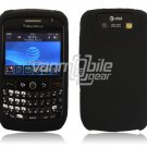 BLACK LEATHER COATING CASE COVER BLACKBERRY CURVE 8900