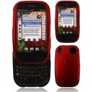Hard Plastic Glossy Smooth Shield Cover Case for Palm Pre - Dark Red