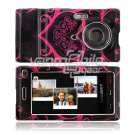BLACK/PINK HEART ARMOR SHIELD SAMSUNG MEMOIR TMOBILE PHONE