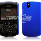 Hard Plastic Rubber Feel Cover Case for BlackBerry Tour 9600/9630 - Blue