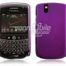 Hard Plastic Rubber Feel Cover Case for BlackBerry Tour 9600/9630 - Purple
