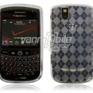 Clear Argyle Design Hard Case for BlackBerry Tour 9600/9630