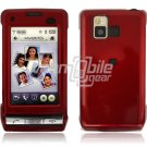 DARK RED GLOSSY FACE PLATE CASE for LG DARE PHONE
