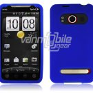 BLUE SOFT ACCESSORY SKIN CASE for SPRINT HTC EVO 4G NEW