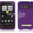 PURPLE SOFT ACCESSORY SKIN CASE for SPRINT HTC EVO 4G NEW