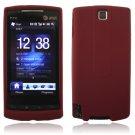 BURGUNDY SILICONE SKIN CASE COVER 4 HTC PURE PHONE ATT