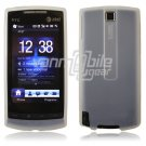CLEAR/WHITE SILICONE SKIN CASE COVER 4 HTC PURE PHONE ATT