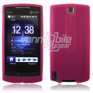 PINK SILICONE SKIN CASE COVER 4 HTC PURE PHONE ATT
