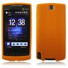 ORANGE SILICONE SKIN CASE COVER 4 HTC PURE PHONE ATT