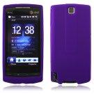 PURPLE SILICONE SKIN CASE COVER 4 HTC PURE PHONE ATT