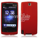 RED SILICONE SKIN CASE COVER 4 HTC PURE PHONE ATT