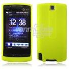 NEON YELLOW/GREEN SILICONE SKIN CASE COVER 4 HTC PURE PHONE ATT