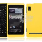YELLOW HARD CASE fr MOTOROLA DROID 2