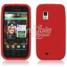 RED SILICONE SKIN CASE for SAMSUNG FASCINATE