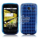 BLUE ARGYLE DESIGN TPU CASE for LG OPTIMUS S