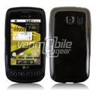 SOLID BLACK GLOSSY TPU CASE for LG OPTIMUS S