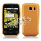 SOLID ORANGE GLOSSY TPU CASE for LG OPTIMUS S